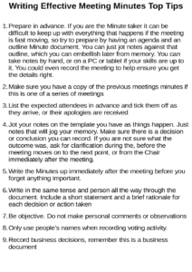 writing-effective-meeting-minutes-top-tips